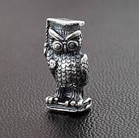 "Сувенир ""Мудрая сова"", размер 14*6 мм, вес серебра 2.31 г"