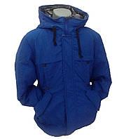 Детская куртка зимняя на пуху для мальчика, 236BLUE 130,140,150,160 см Синяя