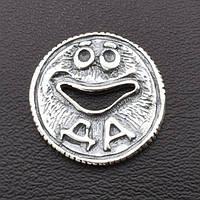 """Серебряная монета """"Да-Нет"""", размер 20*1 мм, вес серебра 2.53 г"""