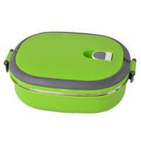 Ланч-бокс для еды 0,9 л зеленый, фото 1