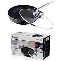Сковорода-ВОК индукционная (алюминий+керамика / 28*7,2 см) Bergner BGMP-7934