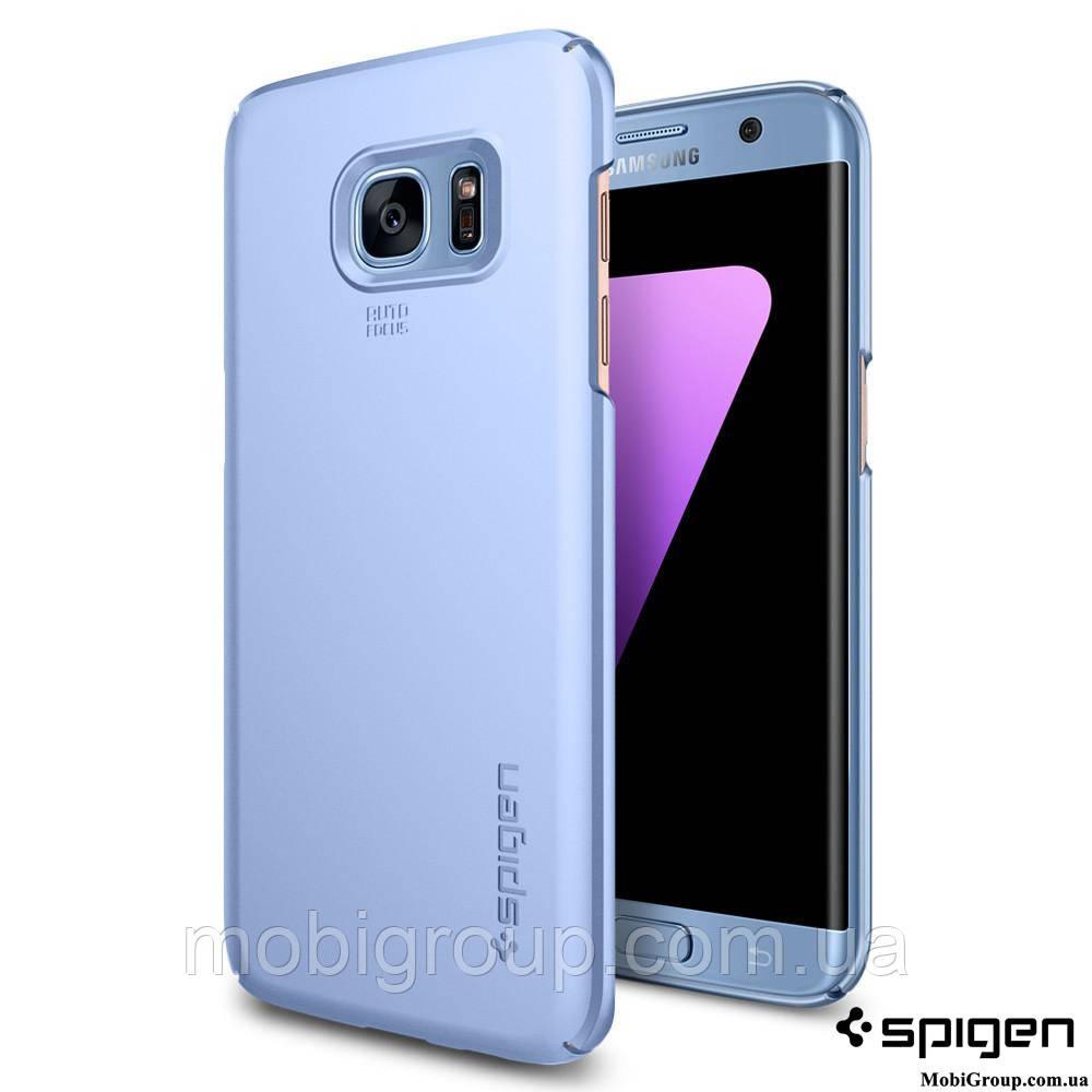 Чехол Spigen для Samsung S7 Edge Thin Fit, Blue Coral
