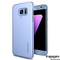 Чехол Spigen для Samsung S7 Edge Thin Fit, Blue Coral, фото 1
