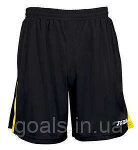 Шорты футбольные Joma Tokio Черный/Желтый