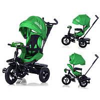 Детский трехколесный велосипед с поворотным сиденьем Tilly cayman T-381, зеленый