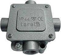 Коробка монтажная металлическая Р16/4, IP 44, 400 B, 5*4