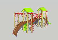 Детский игровой комплекс для дачи ДИК-11