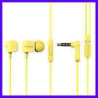 Наушники Remax RM-502 yellow с микрофоном