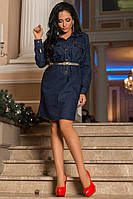 Платье женское джинс(плотный)