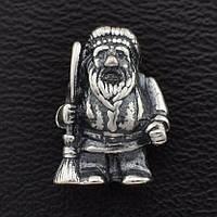 "Сувенир ""Домовичок"", размер 13*8 мм, вес серебра 2.46 г"