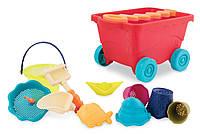 Набор для игры с песком и водойТЕЛЕЖКА МАНГО 11 предметовBattat (BX1594Z)