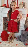 Подростковое платье для девочки Орхидея р.134-152 красное
