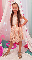 Подростковое платье для девочки Орхидея р.134-152 персиковый