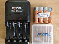 4 X Аккумулятора PKCELL 1.6V Ni-Zn 2500 mWh AA / Зарядка. Original, фото 1