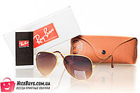Очки Ray Ban Aviator 3026brown-gold