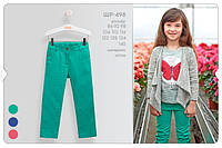 Котоновые брюки на девочку. ШР498