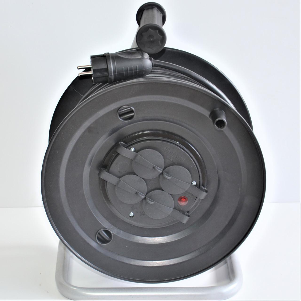 Подовжувач на котушці Фенікс 60м (ПВС 2х1.5мм) без заземлення