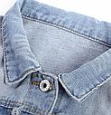 Джинсовая куртка женская с аппликацией на спине, фото 4