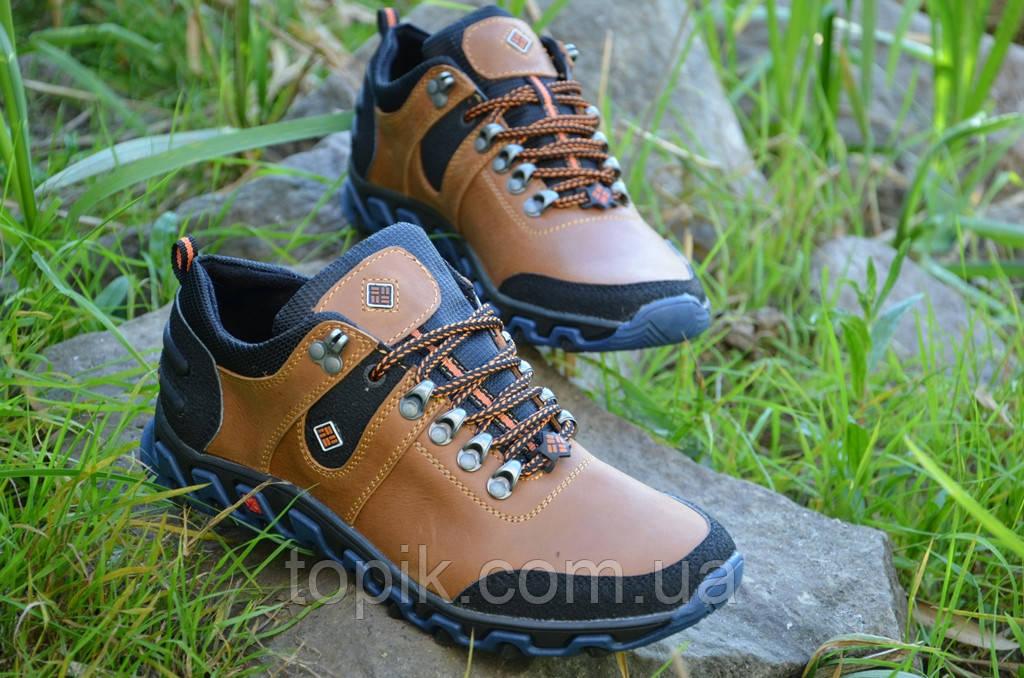 Кроссовки ботинки кожаные мужские   Харьков коричневые кожа (Код: 87а) Только 40р!
