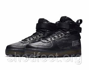 Мужские кроссовки Nike SF Air Force 1 Mid QS Black