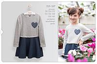 Трикотажное платье для девочки ПЛ 197