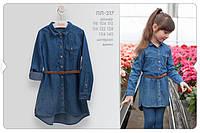 Джинсовое длатье на девочку. ПЛ 217