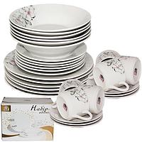 Набор обеденный 30пр. Суфле ZM22 (тар.суп.-8', тарелки-7' и 9', чашка-220мл, блюдце-15см)