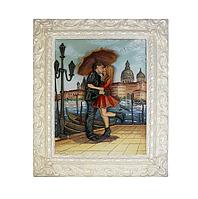 """Картина 3D рельефная """"Пара под зонтом"""""""