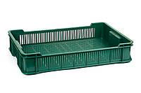 Ящик пластиковый 600x400x115, 10кг (2 сорт), исп. II (цветной), фото 1