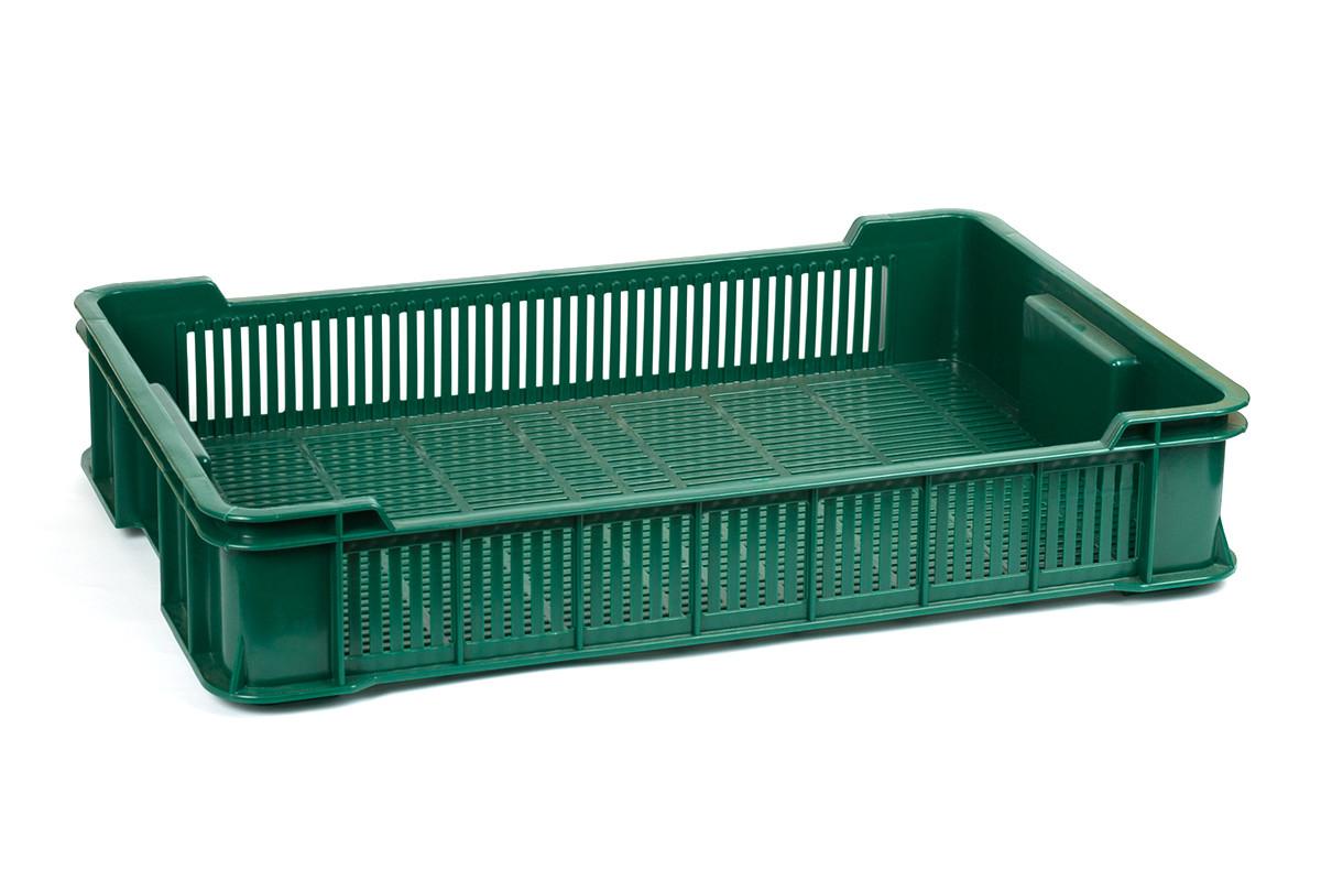 Ящик пластиковый 600x400x115, 10кг (2 сорт), исп. II (цветной)