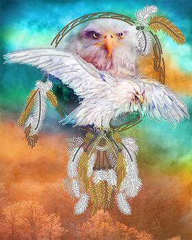 Рисунок на атласе для вышивания бисером Ловец снов. Защита АК3-255