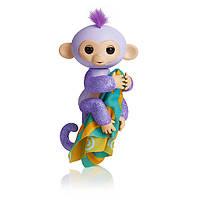 Блестящая обезьянка Fingerlings Glitter Кики с одеялком!!!   100% Оригинал WowWee