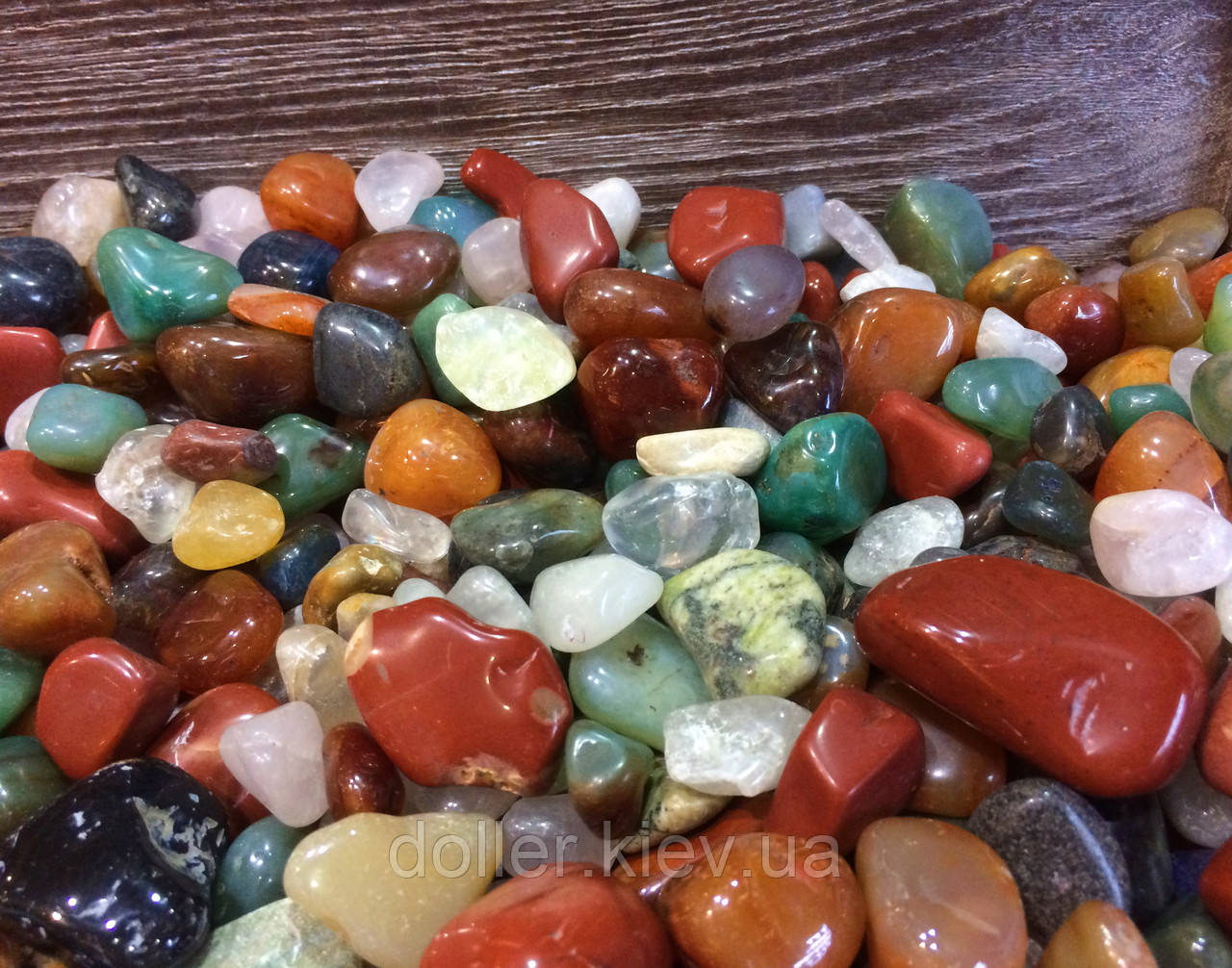 Камни для аквариума и водопада Галька ландшатфтная 1 кг