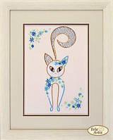 Наборы для вышивки декоративными швами Цветочный кот-4 НШ-004