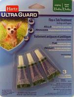 Hartz (Харц) Ultra Guard 3в1 Капли от блох, клещей и комаров для собак и щенков от 2,5 до 6кг (1пипетка)