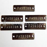 Бирка металлическая Fashion 25х7 мм