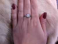 Кольцо с опалом в серебре 16,5 размер, фото 1