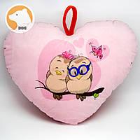 Декоративная подушка Сердце совушки