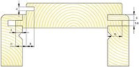 """Комплект фрез для изготовления дверной коробки типа """"евро"""" М-031"""