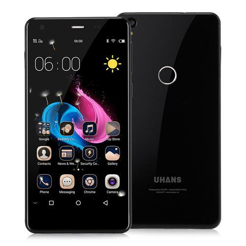 "Смартфон Uhans S1 Black, 3/32Gb, 13/5Мп, 8 ядер, 2sim, экран 5"" IPS, 2200mAh, 4G, Android 6.0"