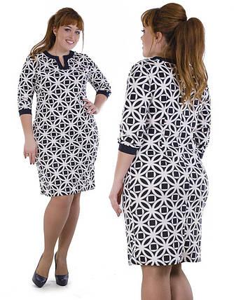 """Приятное женское платье ткань """"Французский трикотаж"""" 50, 52, 54, 56 размер батал, фото 2"""