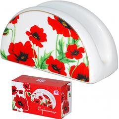 Підставка для серветок Червоний мак 11,4х6,5см