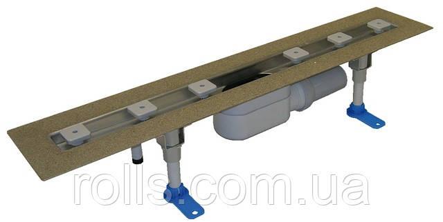 HL50F.0/100 Душевой лоток для линейного отведения воды с сифоном DN50, материал для монтажа. Австрия
