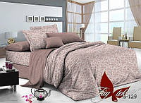 Комплект постельного белья евро макс. с компаньоном, сатин люкс, S-129