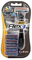 Станок для бритья BIC flex 3 Hybrid (4 шт)