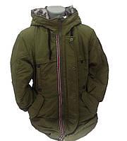 Детская куртка зимняя для мальчика, на пуху 236XAKI 130,150 см Хаки