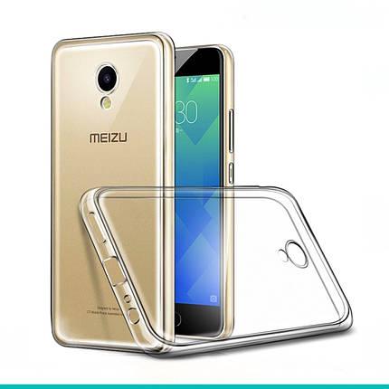 Силикон прозрачный Meizu M5, фото 2