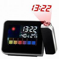 Часы электронные CJ-8190 (будильник/дата/ температура/влажность/2хбат. ААА)