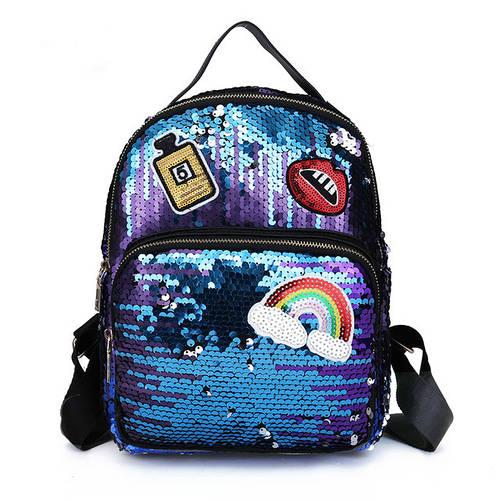 Стильный рюкзак с двусторонними пайетками
