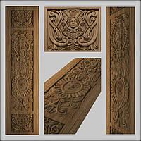 Накладка на дверь резная из дерева